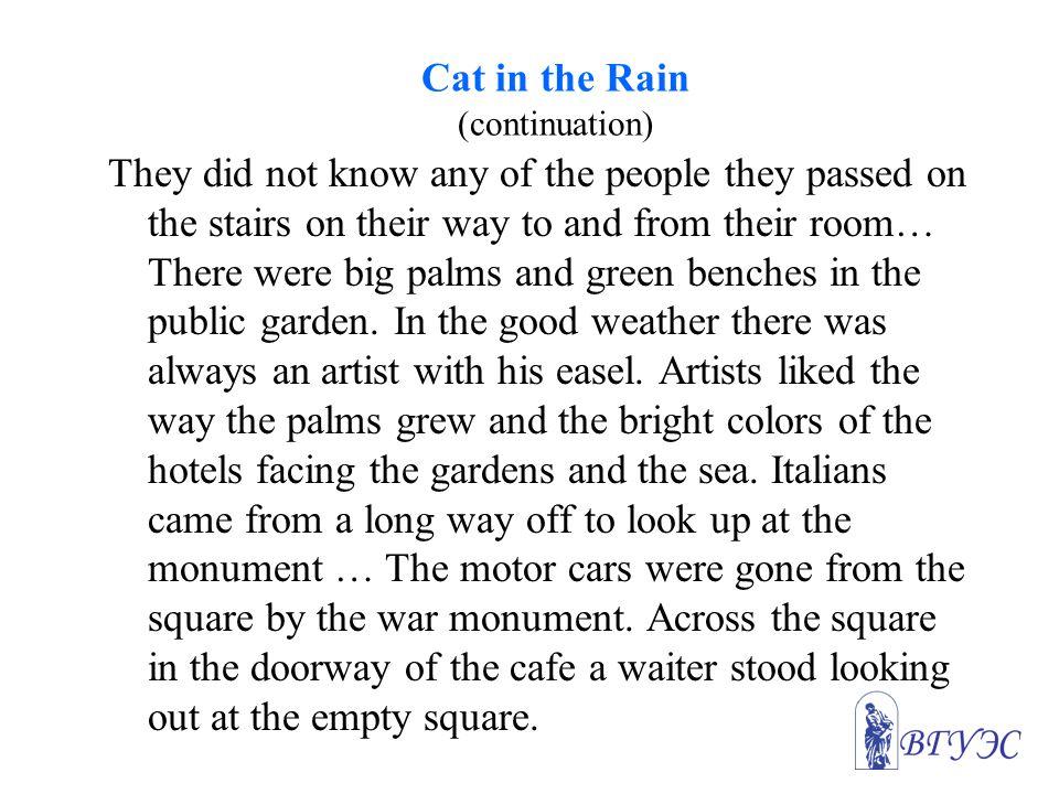 Cat in the Rain (continuation)