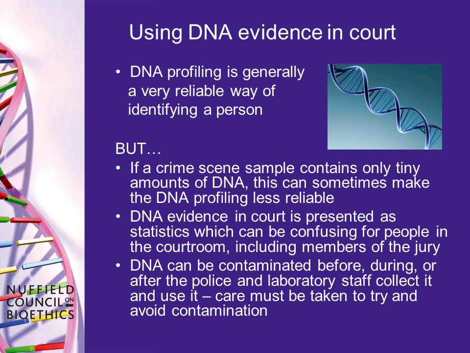 Using DNA evidence in court