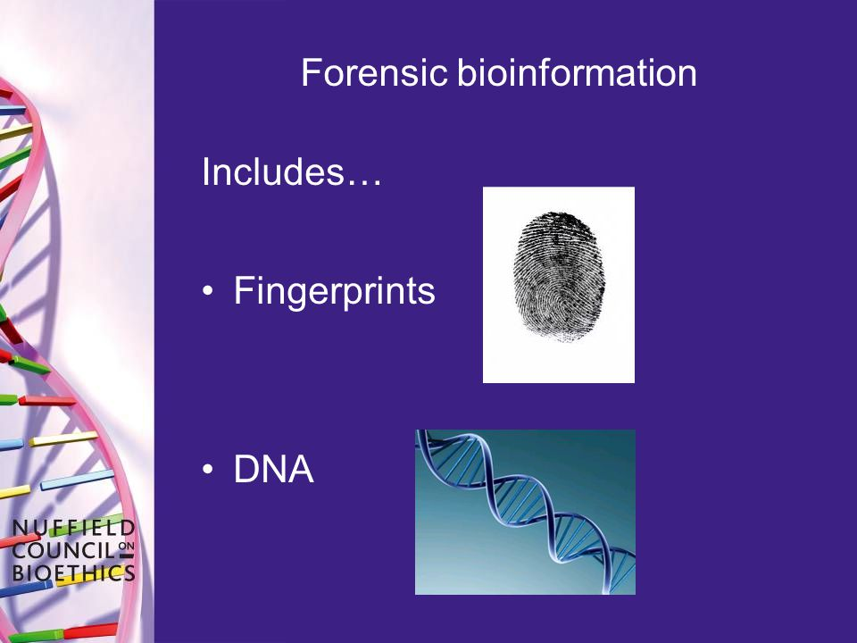 Forensic bioinformation