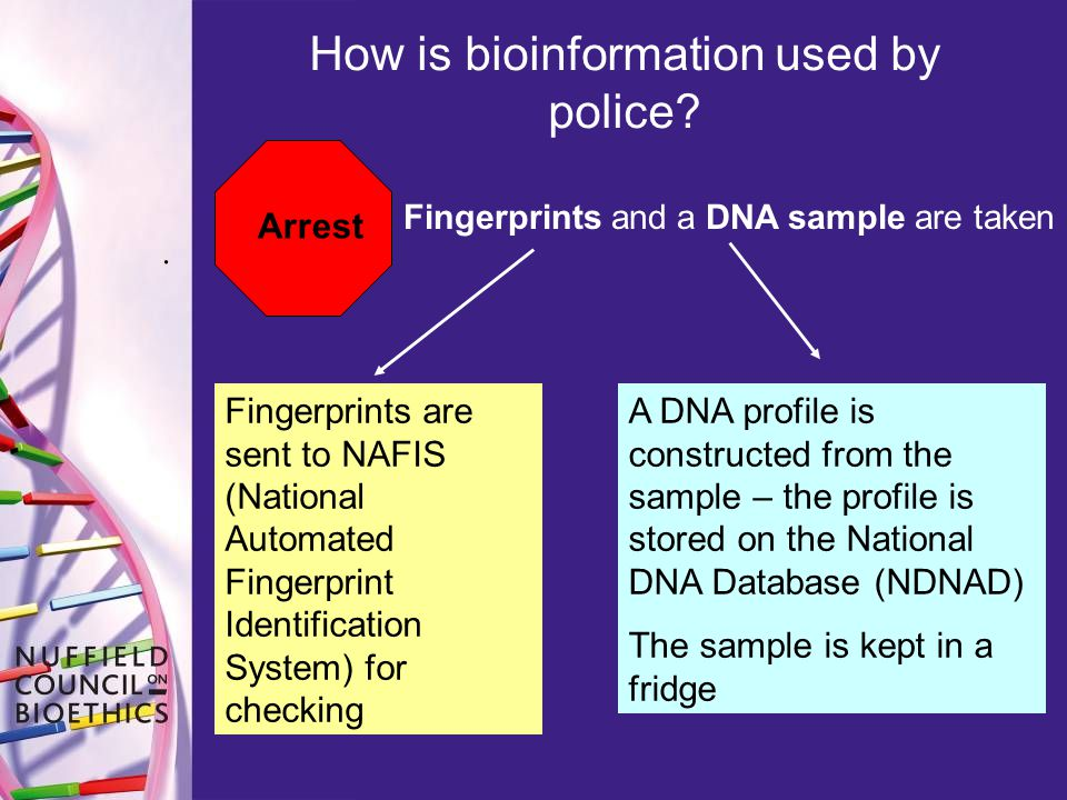 How is bioinformation used by police