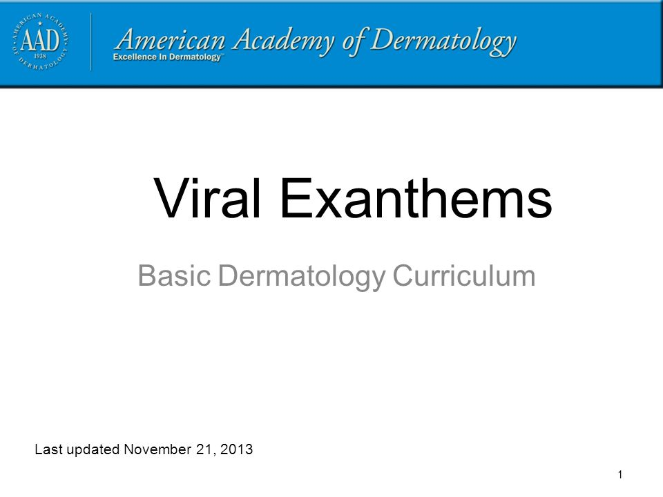 Basic Dermatology Curriculum