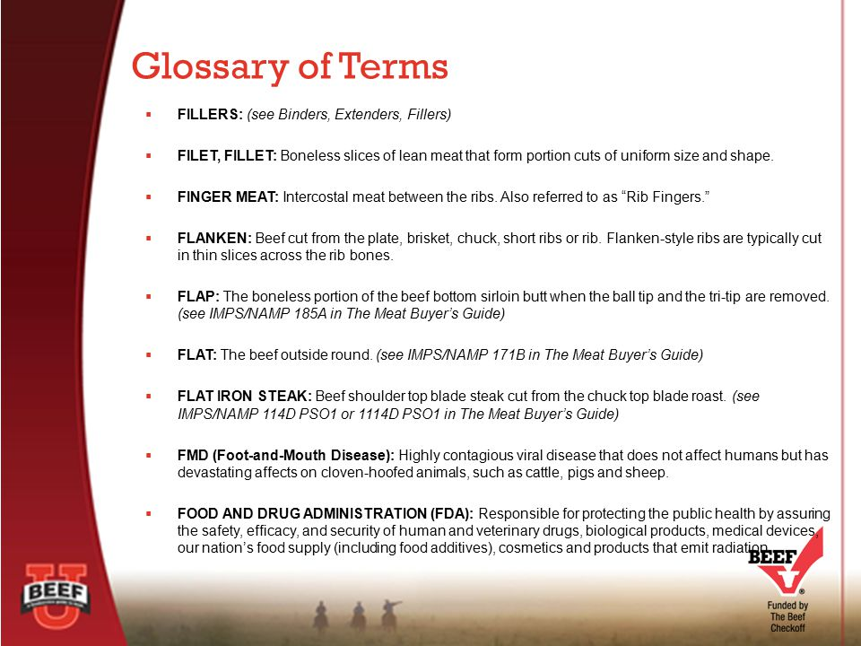 Glossary of Terms FILLERS: (see Binders, Extenders, Fillers)