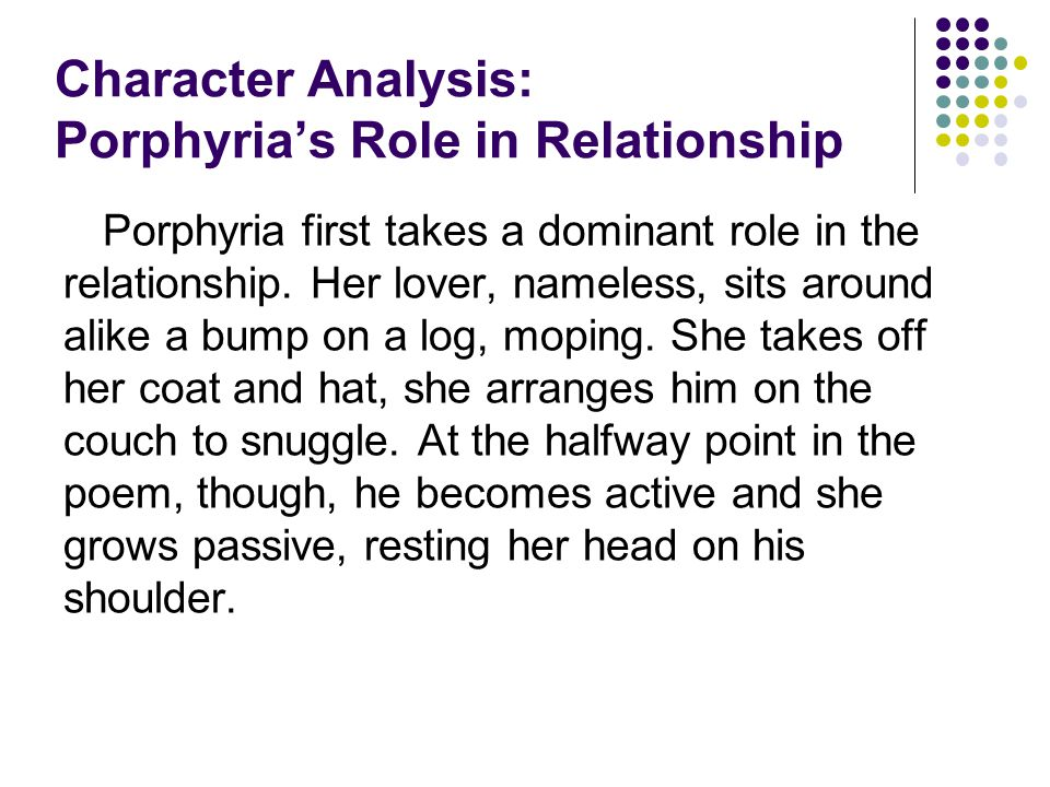 Character Analysis: Porphyria's Role in Relationship