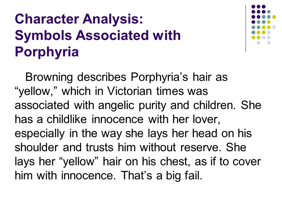 Character Analysis: Symbols Associated with Porphyria