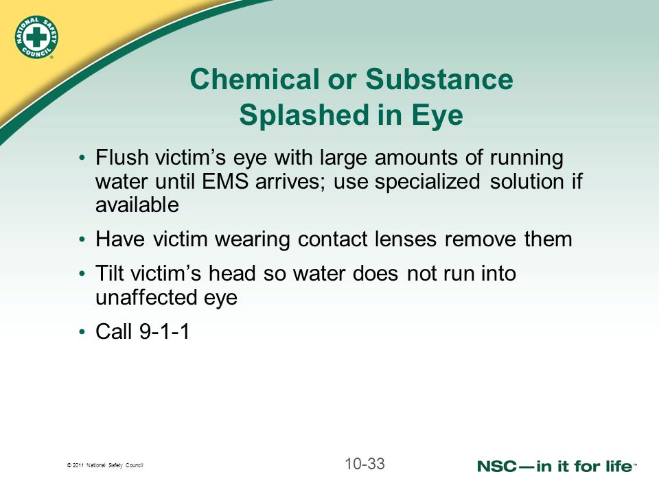 Chemical or Substance Splashed in Eye