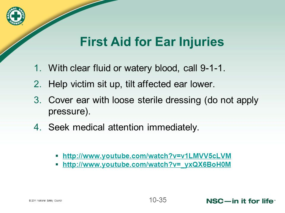 First Aid for Ear Injuries