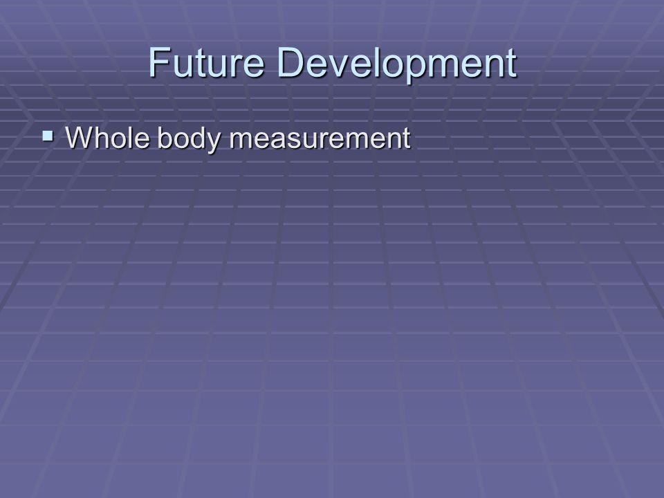 Future Development Whole body measurement