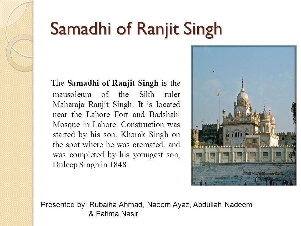 Samadhi of Ranjit Singh