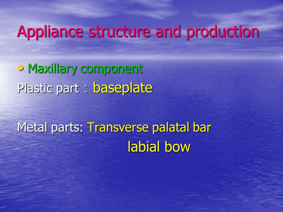 Appliance structure and production
