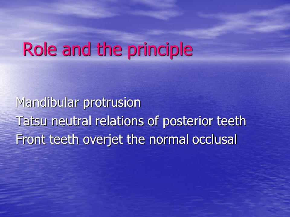 Role and the principle Mandibular protrusion