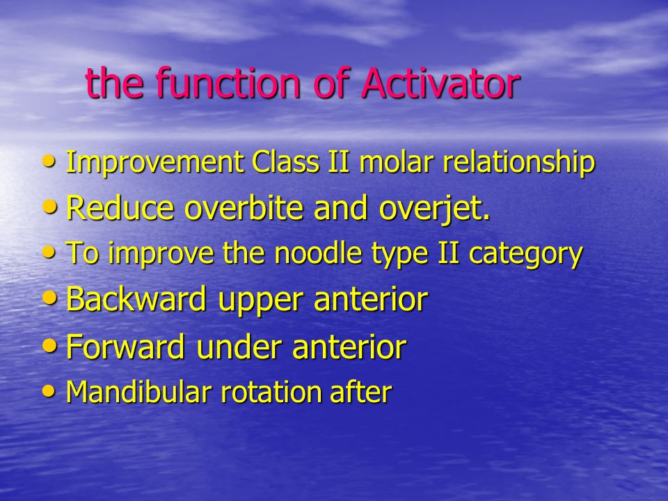 the function of Activator