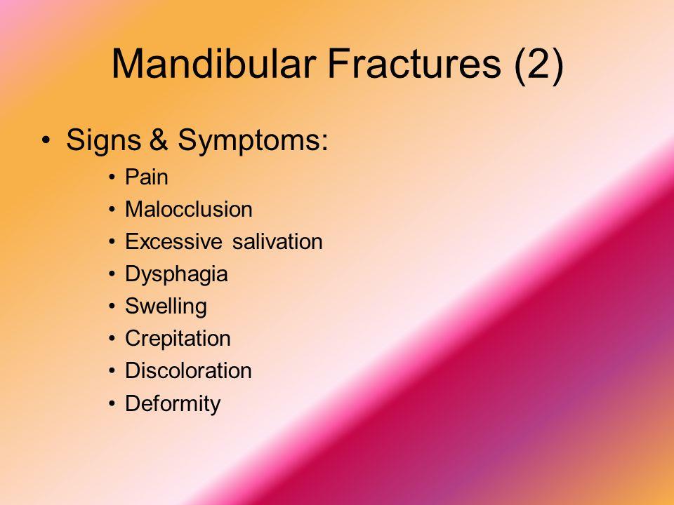 Mandibular Fractures (2)