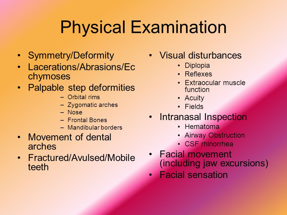 Physical Examination Symmetry/Deformity