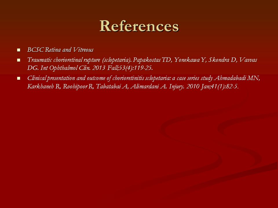 References BCSC Retina and Vitreous