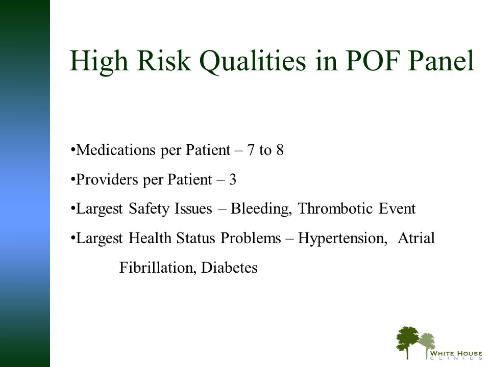High Risk Qualities in POF Panel
