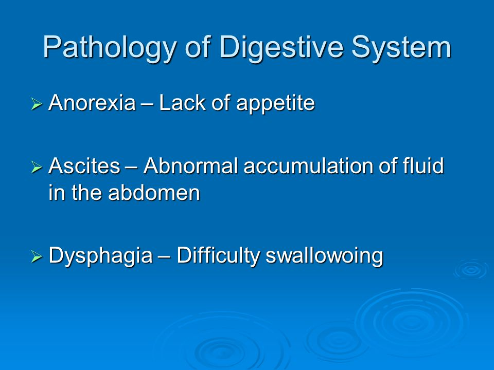 Pathology of Digestive System