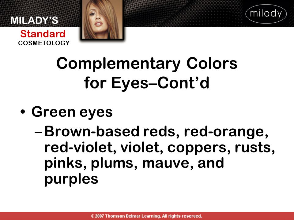 Complementary Colors for Eyes–Cont'd