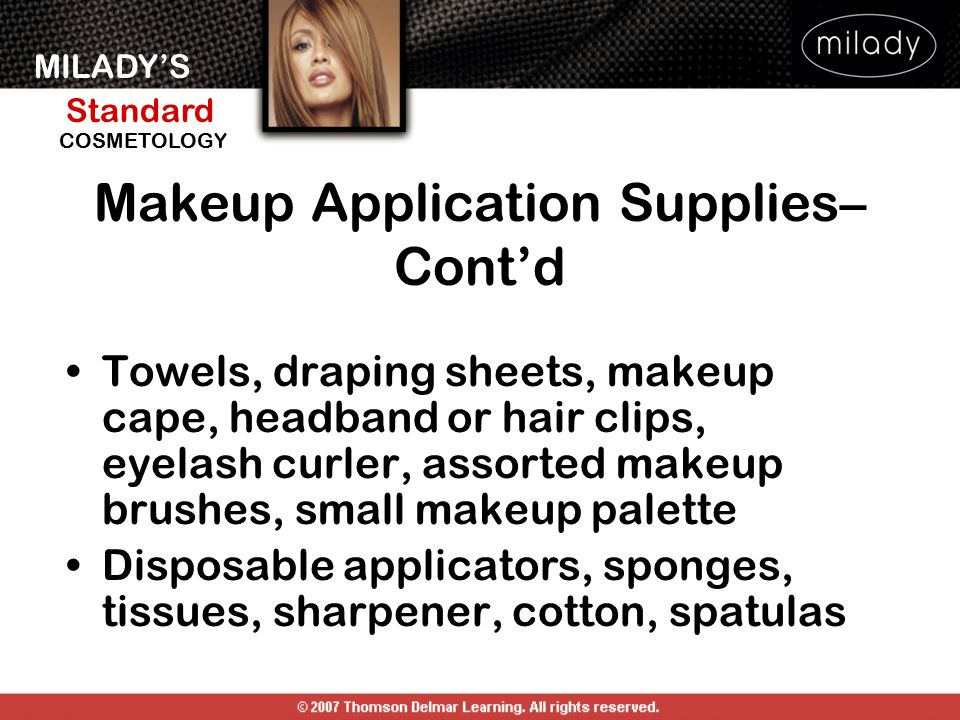 Makeup Application Supplies–Cont'd