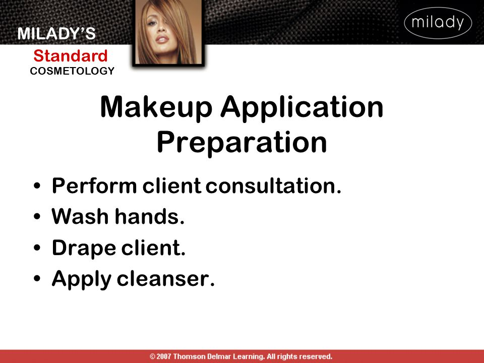 Makeup Application Preparation