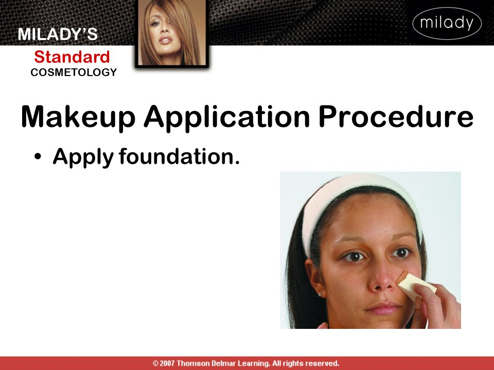 Makeup Application Procedure