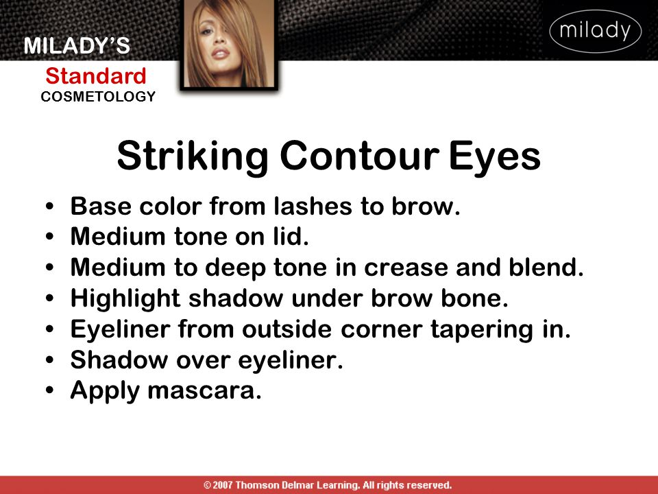 Striking Contour Eyes Base color from lashes to brow.