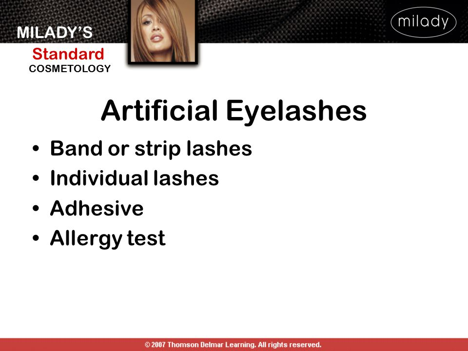 Artificial Eyelashes Band or strip lashes Individual lashes Adhesive