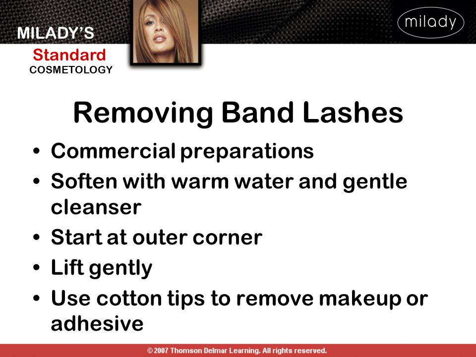 Removing Band Lashes Commercial preparations