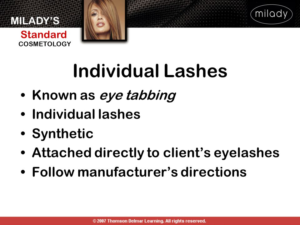 Individual Lashes Known as eye tabbing Individual lashes Synthetic