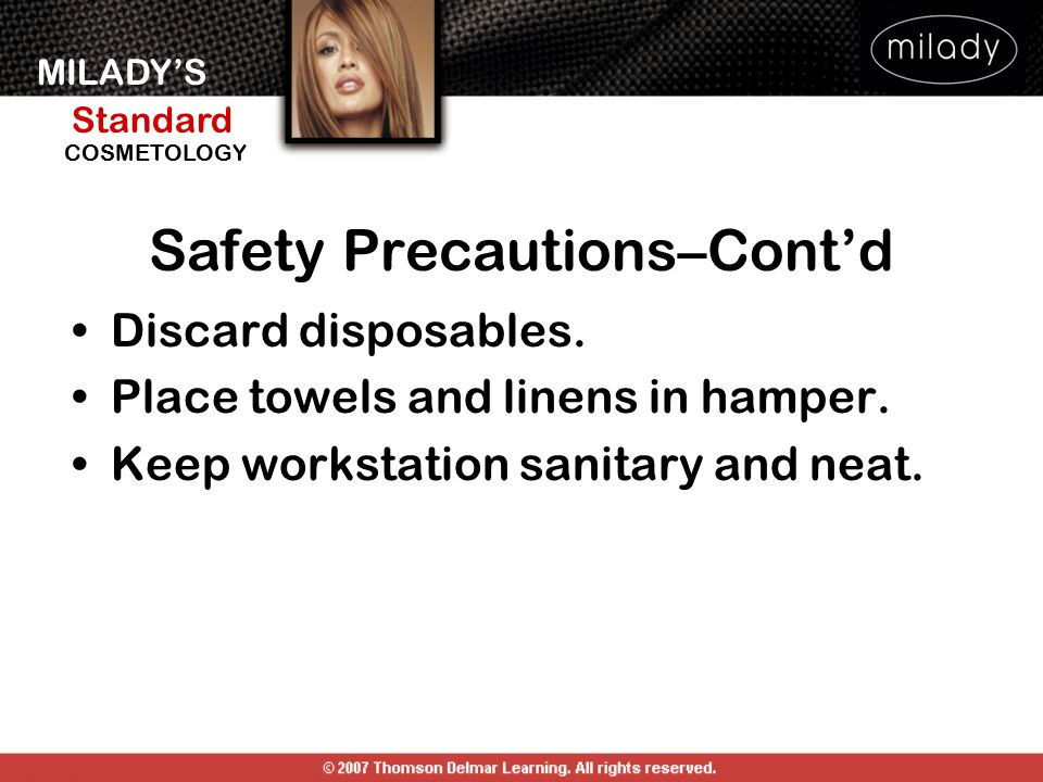 Safety Precautions–Cont'd