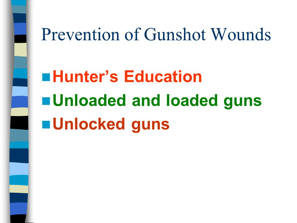 Prevention of Gunshot Wounds
