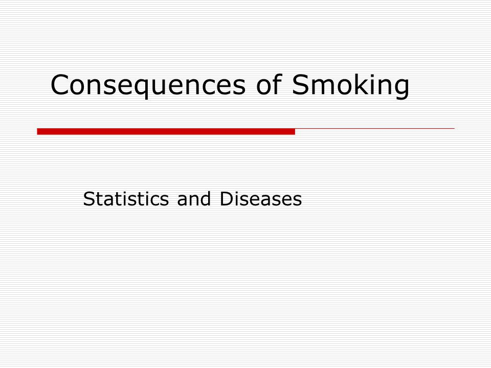 Consequences of Smoking