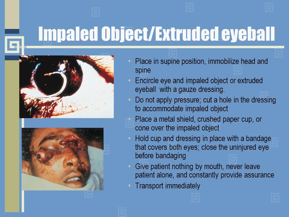 Impaled Object/Extruded eyeball
