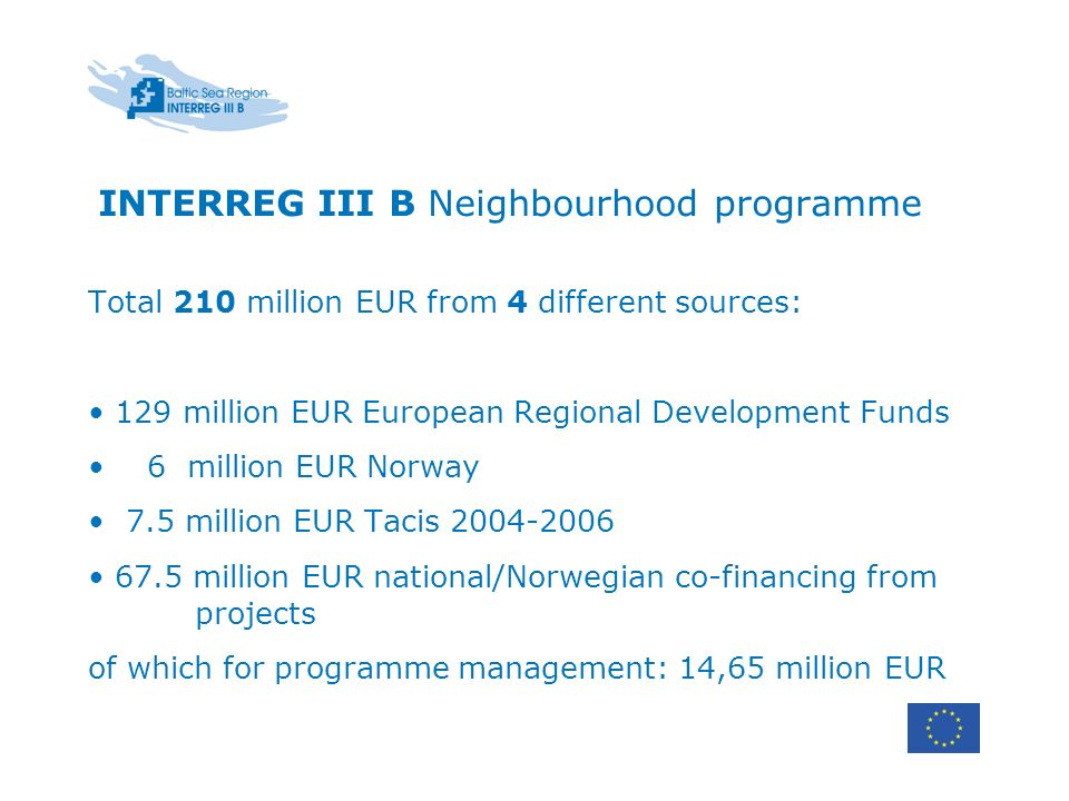INTERREG III B Neighbourhood programme