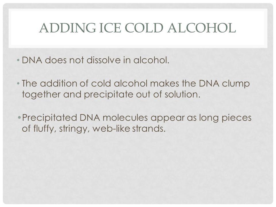 Adding Ice Cold Alcohol