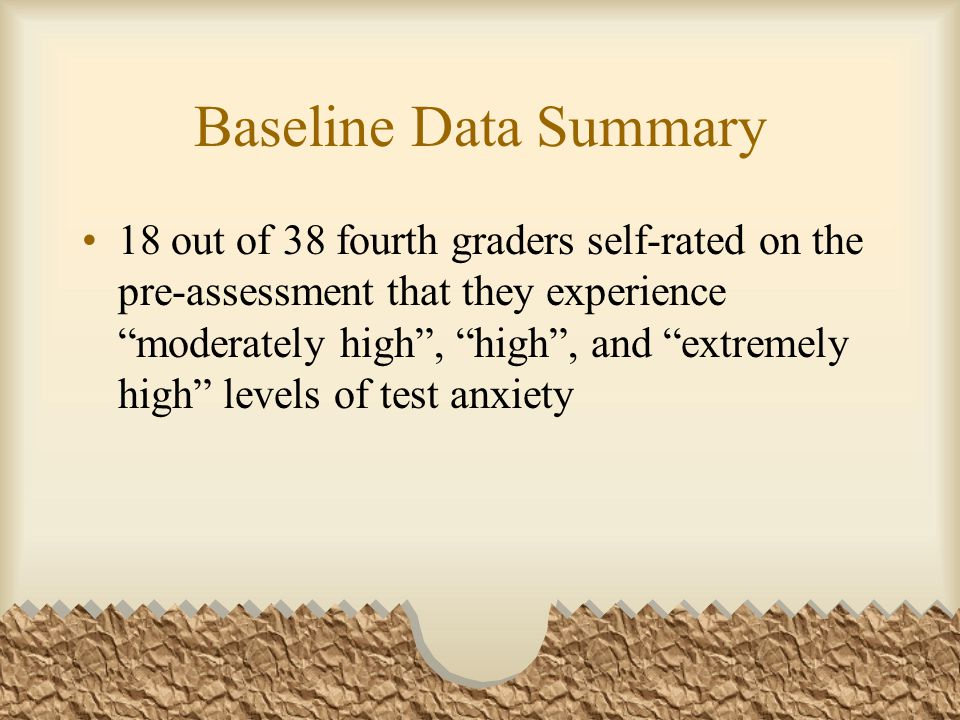 Baseline Data Summary