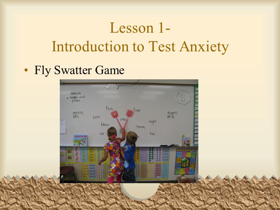 Lesson 1- Introduction to Test Anxiety