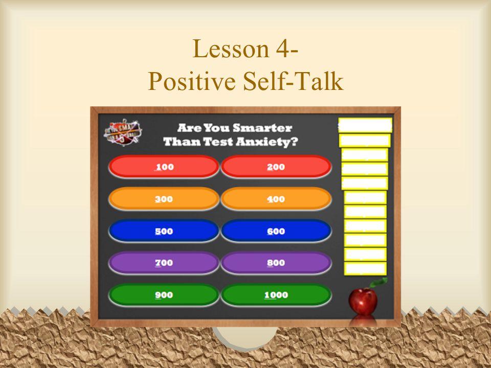 Lesson 4- Positive Self-Talk