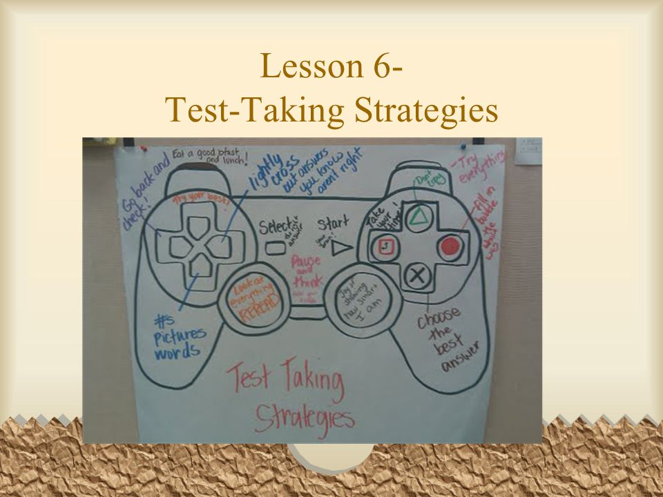 Lesson 6- Test-Taking Strategies