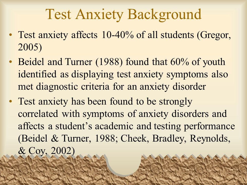 Test Anxiety Background