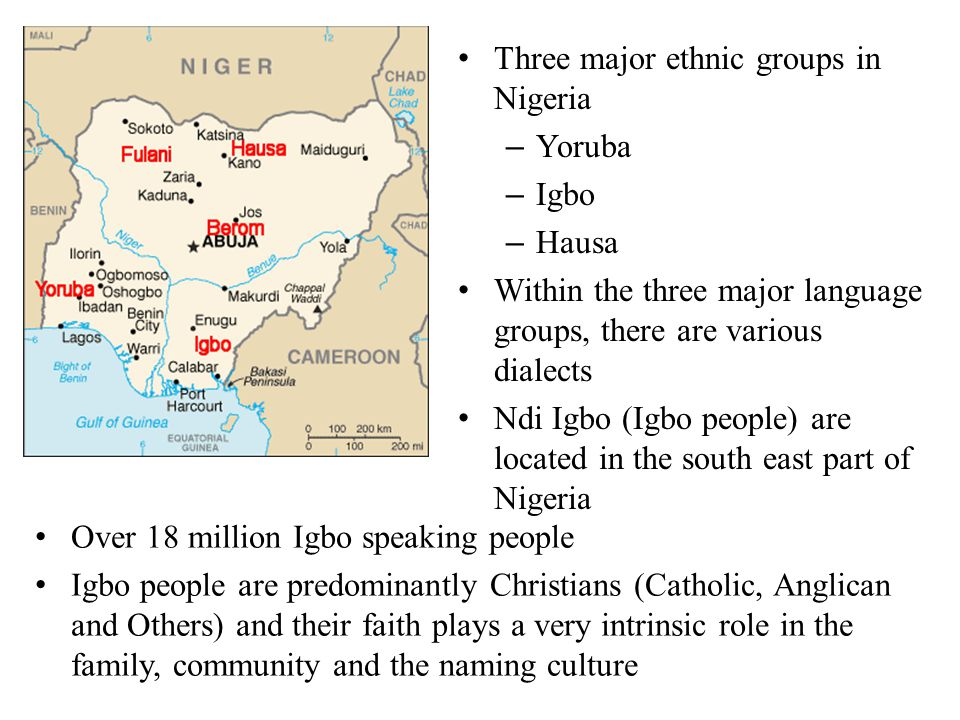 Three major ethnic groups in Nigeria