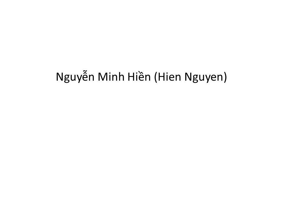 Nguyễn Minh Hiền (Hien Nguyen)