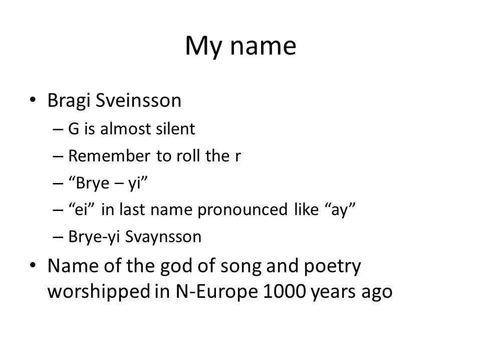 My name Bragi Sveinsson