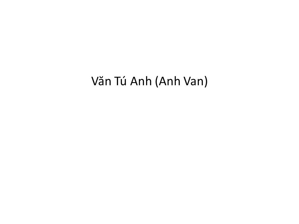 Văn Tú Anh (Anh Van)
