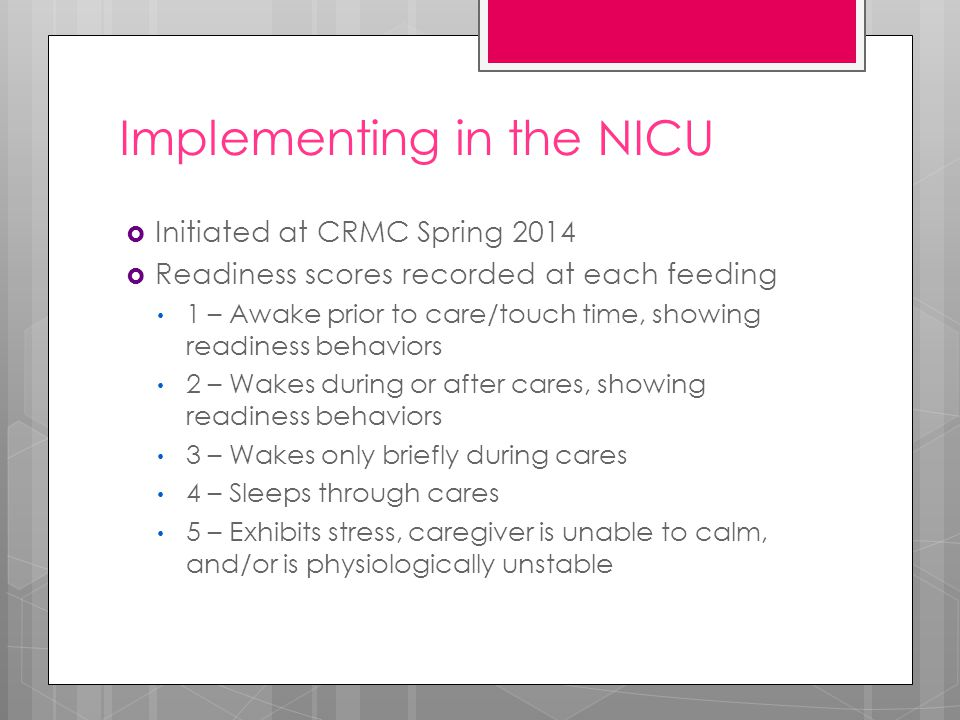 Implementing in the NICU