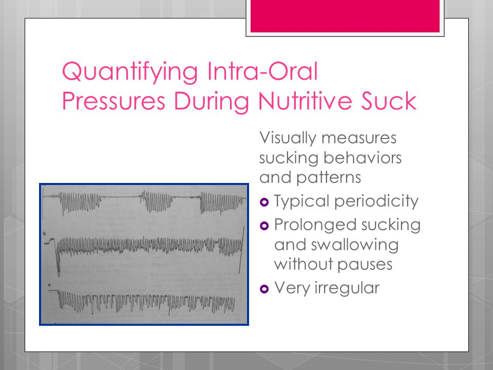 Quantifying Intra-Oral Pressures During Nutritive Suck