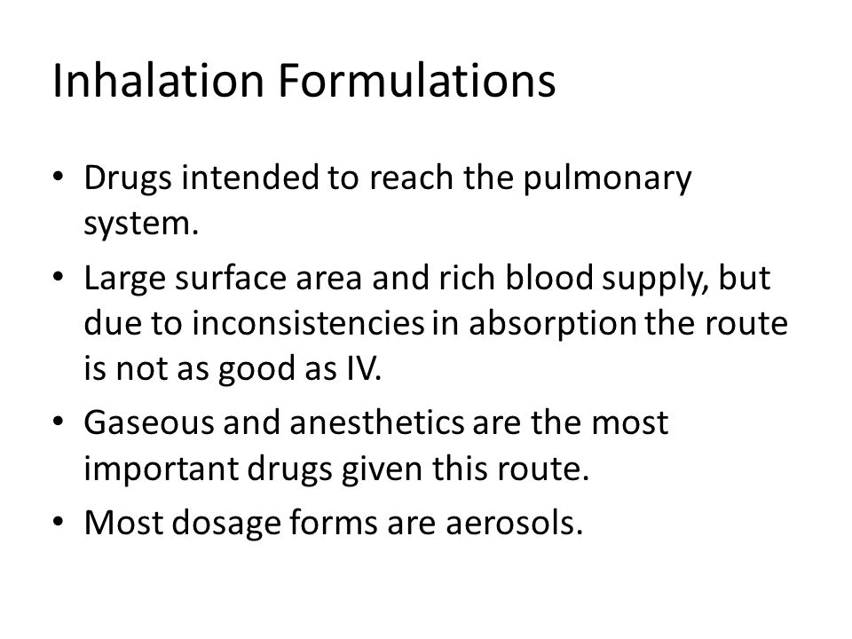 Inhalation Formulations