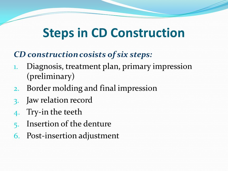 Steps in CD Construction