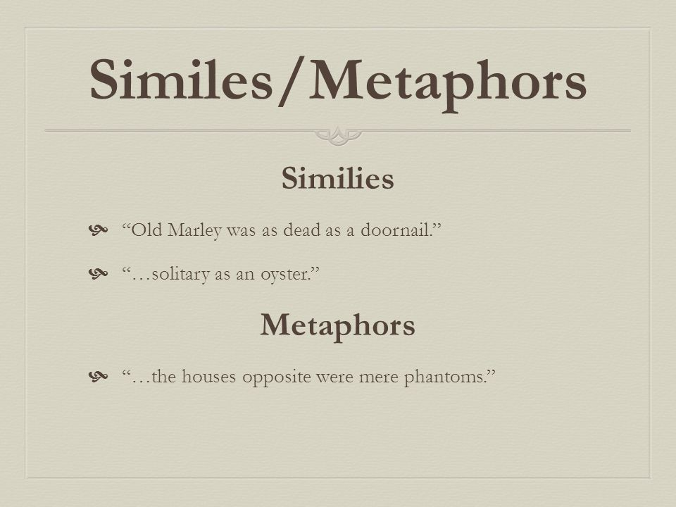 Similes/Metaphors Similies Metaphors