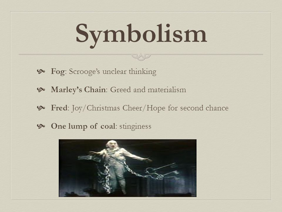Symbolism Fog: Scrooge's unclear thinking