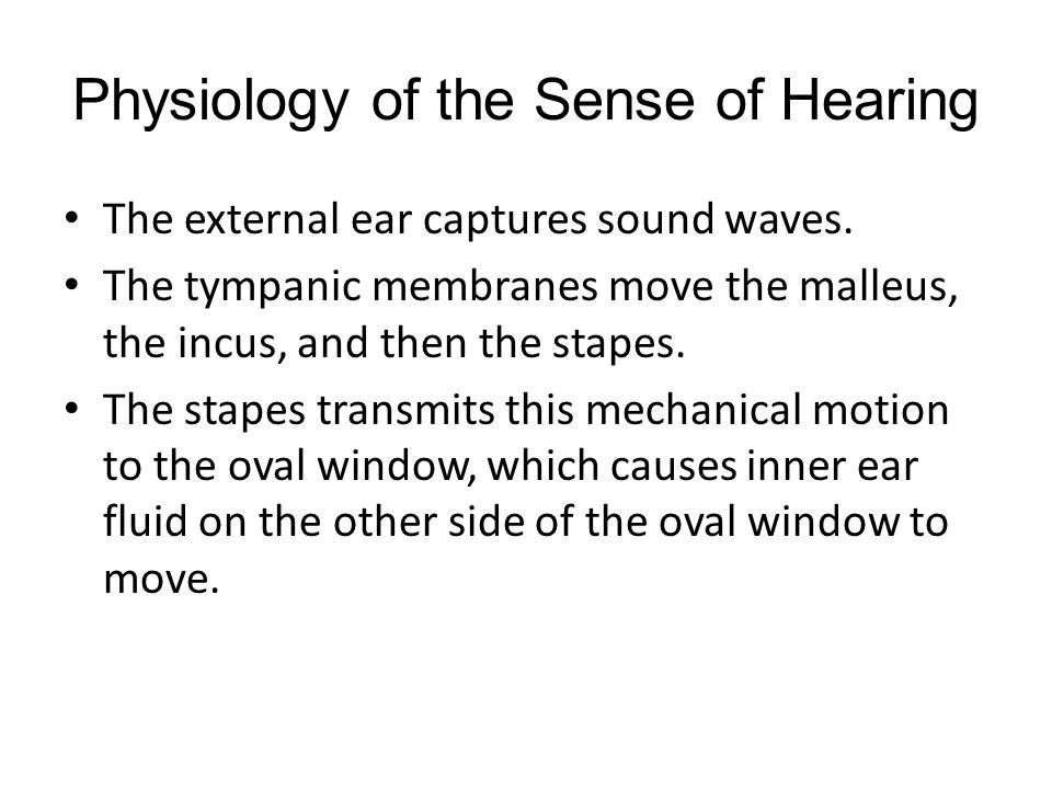 Physiology of the Sense of Hearing